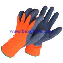 Gant chaud à l'hiver, gant Latex, revêtement acrylique à 7 étalons
