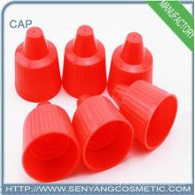 Tapa superior roja del disco plástico para la botella
