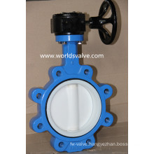 PTFE Full Lined Lug Type Butterfly Valve