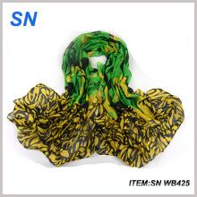 2015 venta directa de la fábrica de la venta bufanda barata de encargo de moda del voile