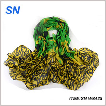 2015 Factory Direct Sale Fashionable Custom Cheap Voile Scarf
