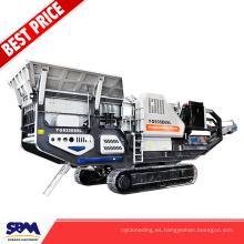 Máquina trituradora portátil de ladrillo de bajo precio, trituradora de residuos de construcción móvil