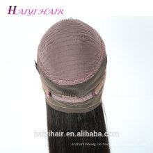 Alibaba brasilianisches Haar nasses und wellenförmiges Webarthaar preiswerte Menschenhaarspitzeperücke