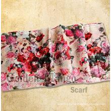 Женская мода 50% шерсть 50% шелк печати пашмины платок