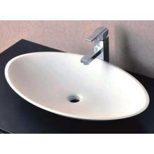Évier en pierre de salle de bain en bois blanc comptoir en Chine (BS-8326)