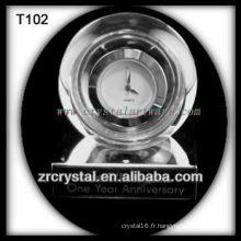 Magnifique horloge en cristal K9 T102