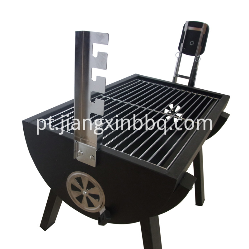 Mini Spit Roaster Side View