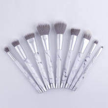 Marble makeup brush set synthetic with packaging box