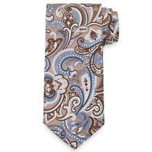 50D Polyester Twill Satin Paisley Print Tie Poly Printed Necktie