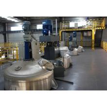 Корпус промышленного реактора высокого давления с внешней полутрубой