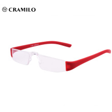 color plastic rimless reading glasses