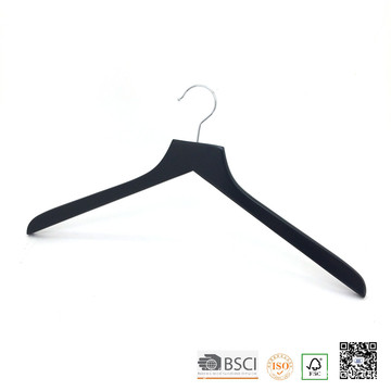 Black Lipu Made Top Wooden Display Shirt Hanger