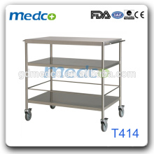 Stainless Steel Round tube 3-layer Trolley/Dinning Transport Cart T414