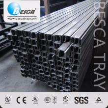 BS1000 41 * 41 não perfurando os preços de fábrica de aço do canal do suporte listados