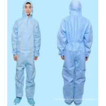 Protective Disposable High Quality PP Coverall with Hood and Shoe Cover
