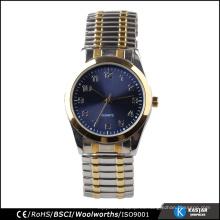 Pulsera de aleación de acero inoxidable reloj de los hombres