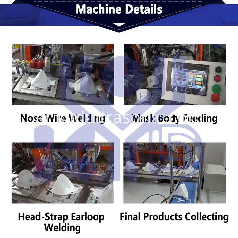 folding mask headstrap earloop welding machine parts photo