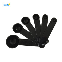 Plastic round shape 6pcs measuring spoon set
