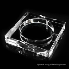 Square K9 Crystal Glass Ashtray for Office Decoration
