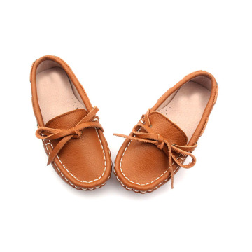 Leather Girl Casual Shoes mocassins pour enfants