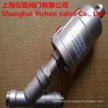 Válvula de assento ângulo soldagem pneumática