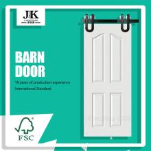 JHK-004 Internal White Wooden Doors Finished Interior Barn Door