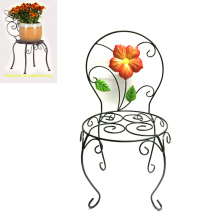 Wholesale Garden Decoration Metal Linellae Chair Flowerpot Stand
