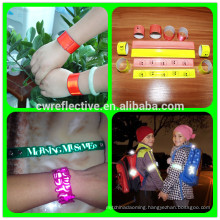 fluorescent ec-friendly pass EN13356 safety reflective slap band