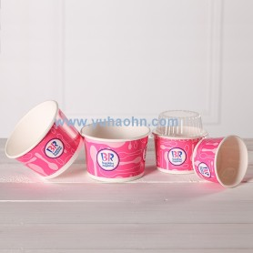 3.5oz Ice Cream Cup with Clear Lid