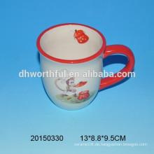 Keramik-Kaffeetasse mit Neuheit-Affen-Design