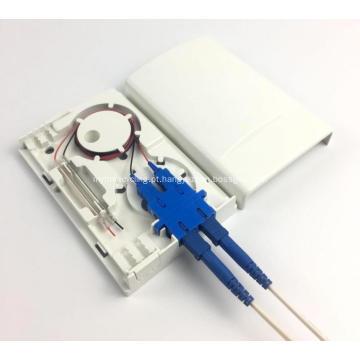 Caixa de terminação de fibra óptica de 2 portas com tampa de poeira
