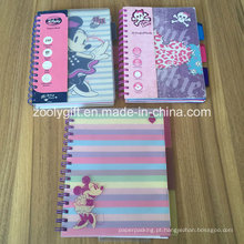 Double Spiral PP Cover A5 Projeto Notebook Colorido PP Divisores