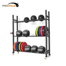 Gymnastik-Ausrüstung-Gewichts-Platten-Gestell, Dummkopf-Gestell, Wand-Ball / Medizin-Ball / Knall-Ball-Gestell