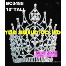 fashion pearl rhinestone tiara