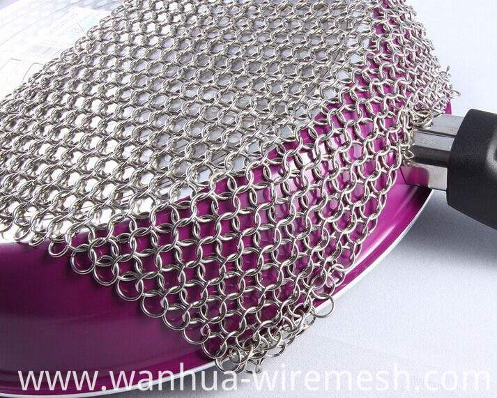 Stainless steel ring chain link mesh (2)