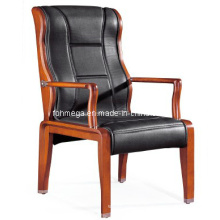 China Black Leather Side Chair (FOH-F26)