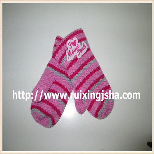 kids strip fingerless gloves