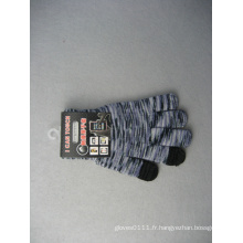 Gant de travail tactile de doigt de polyester de trois gants de 10g