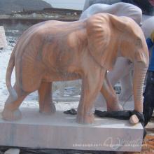 décoration de jardin en plein air sculpture sur pierre statue d'éléphant antique