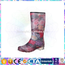 Популярный дождь сапоги леди ботинки дождя