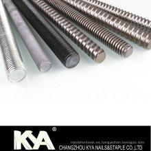 Barra DIN975 / ASTM A193 B7 / B7m / B8 / B8m Varilla roscada con grado4.8 / 8.8 / 10.9 / 12.9 / A2 / A4