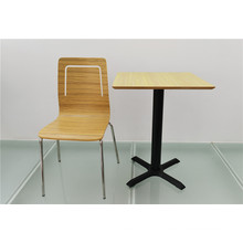 Double Seat Square Dining Table Furniture for Restaurant (FOH-CXSC75)