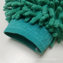 Double-sided car wash mitt microfiber chenille gloves