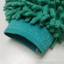 Double-sided car wash mitt microfiber chenille gloves