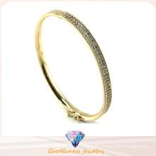 Hot 2015 Beautiful 925 Sterling Silver Fashion Jewelry Circle Cute Pretty Women Bangle Bracelet (G41253)