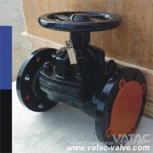 Cast Iron and Stainless Steel Lined or Unlined Weir (A) & Straight (KB) Diafragm / Diaphragm Valve (G41)