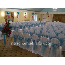 Couverture de chaise de banquet standard, CT090 polyester matière, durable et facile lavable