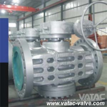 API 6D Cast Steel Inverted Pressure Balance Lubrciated Plug Valve