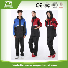 Moda Lovely Outdoor PU Rainsuit Com Calças