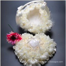 Boda de la playa de estilo de la boda de flores cesta de la muchacha de regalo de boda
